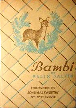 Photo: Bambi.  Felix Salten (author), Simon & Schuster, 1929.
