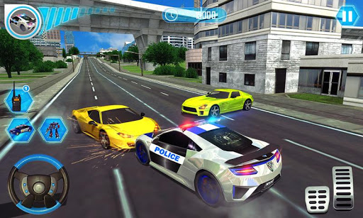 US Police Car Real Robot Transform: Robot Car Game 163 screenshots 3