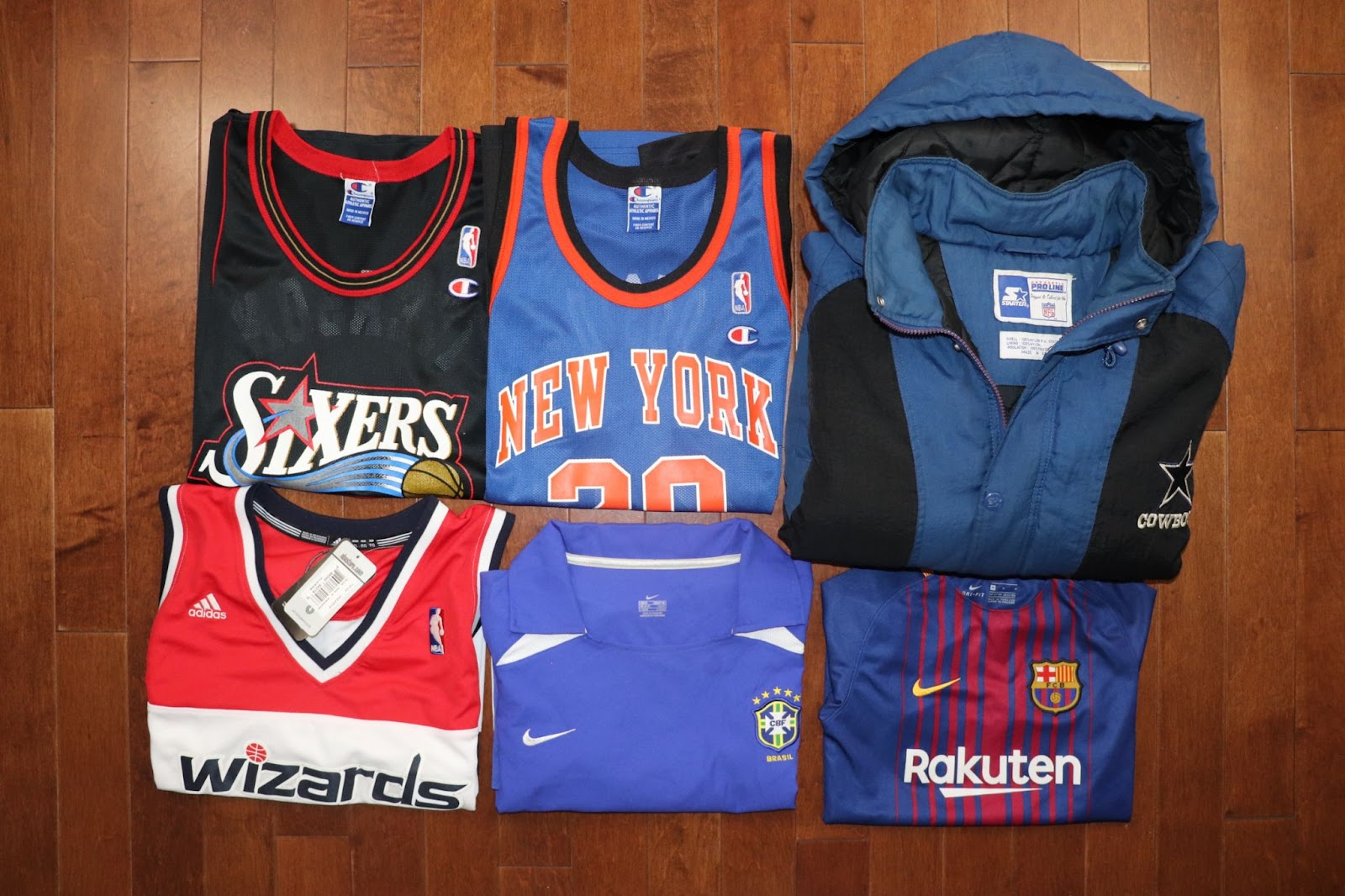 College and professional sportswear