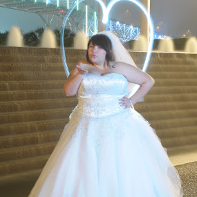 Love is in the Air by Justin Ward - Wedding Bride ( wedding light painting bride love,  )