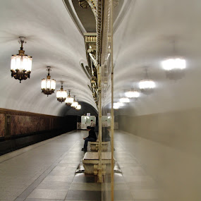Reflection @ Moscow Metro by João Branquinho - Buildings & Architecture Architectural Detail ( passenger, russia, moscovo, subway, metro, moscow, underground )