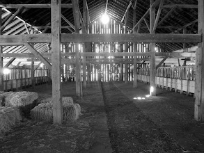 Photo: Inside hay barn, Pierce Point Ranch, Tomales Point, Pt. Reyes