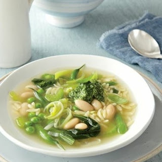 Weight Watchers Green Vegetable Soup With Lemon-Basil Pesto