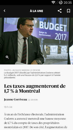 Le Devoir mobile 1.0.1 screenshot 620836