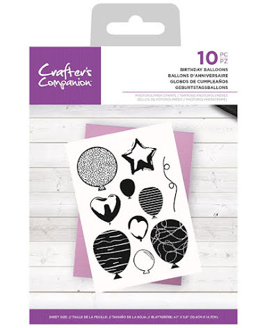 Crafters Companion Photopolymer Stamp Set - Birthday Balloons