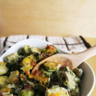 Brussels Sprouts Au Gratin (Low Carb, Gluten-free).