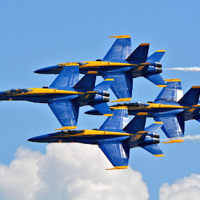 The Blues by Jarrod Unruh - Transportation Airplanes ( airplane, aircraft, navy, jet, air show,  )