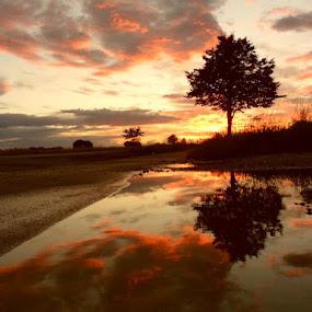 sundown  by Karl Erik Straarup - Landscapes Weather