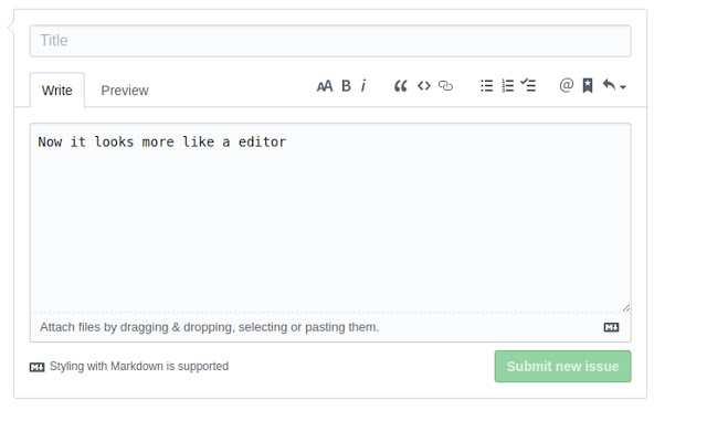 Monospace GitHub Editor