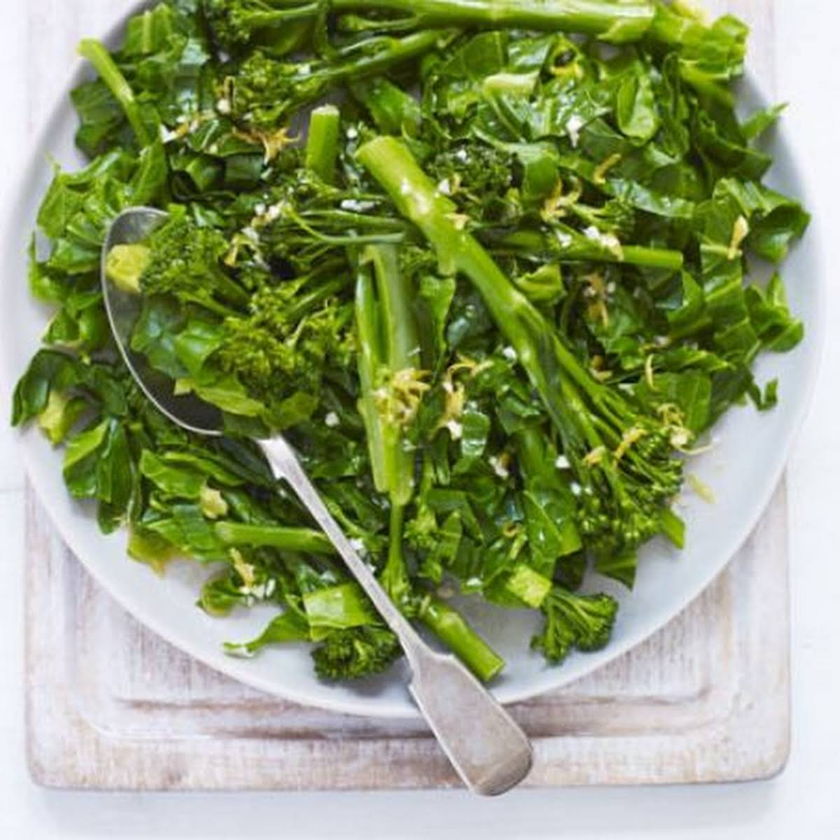 Spring Greens  subsequently Lemon Dressing