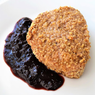Walnut Crusted Pork Chops with Cherry Port Reduction Sauce Recipe