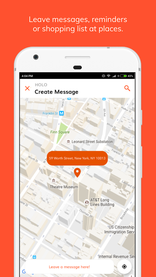 Holo - Ai location messages.- screenshot