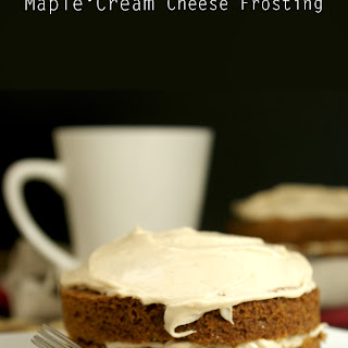 Mini Spice Cakes With Maple Cream Cheese Frosting