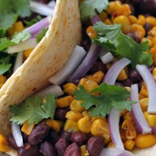 Roasted Corn and Black Bean Tacos Recipe