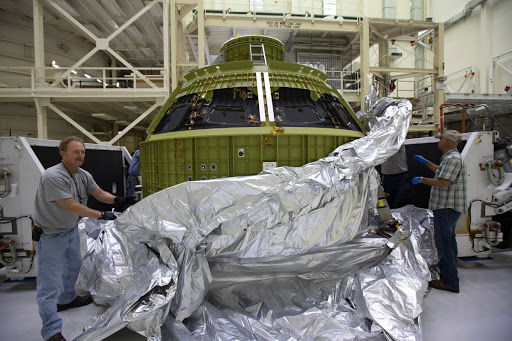 Orion Crew Module Structural Test Article Unbagging
