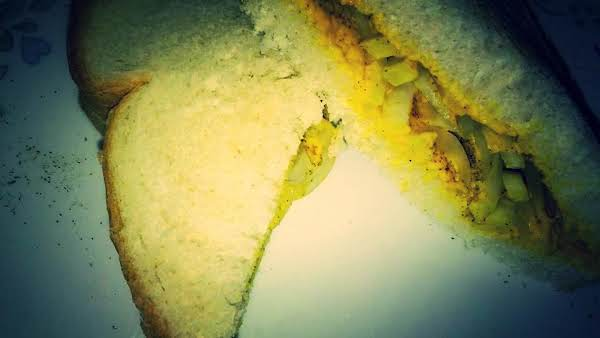 Very Unusual Sandwich (mustard And Onion) Recipe