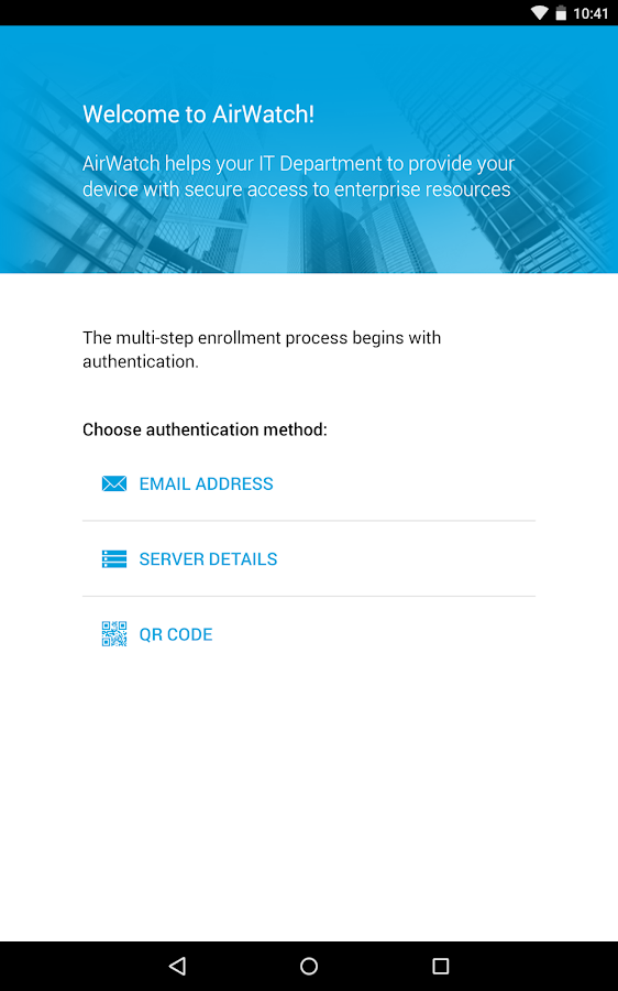 AirWatch Container- screenshot