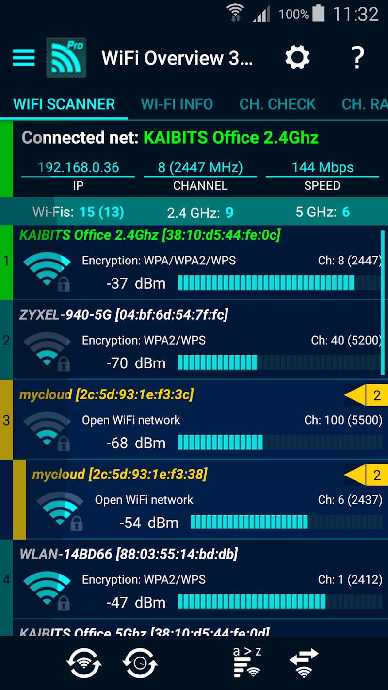WiFi Overview 360 Pro Screenshot