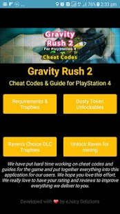 Cheat Codes for Gravity Rush 2 - náhled