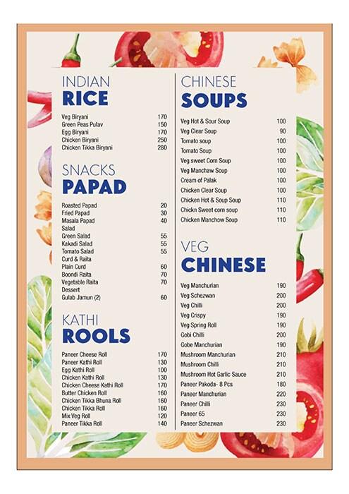 Sing Ching menu 1
