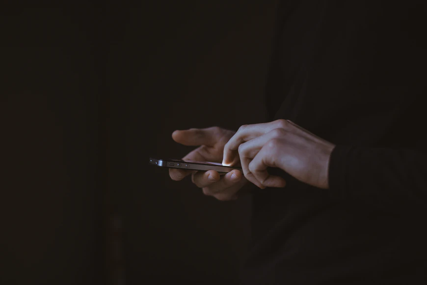 person using a mobile app
