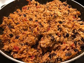 Chicken & Rice and beans Taco Skillet Meal