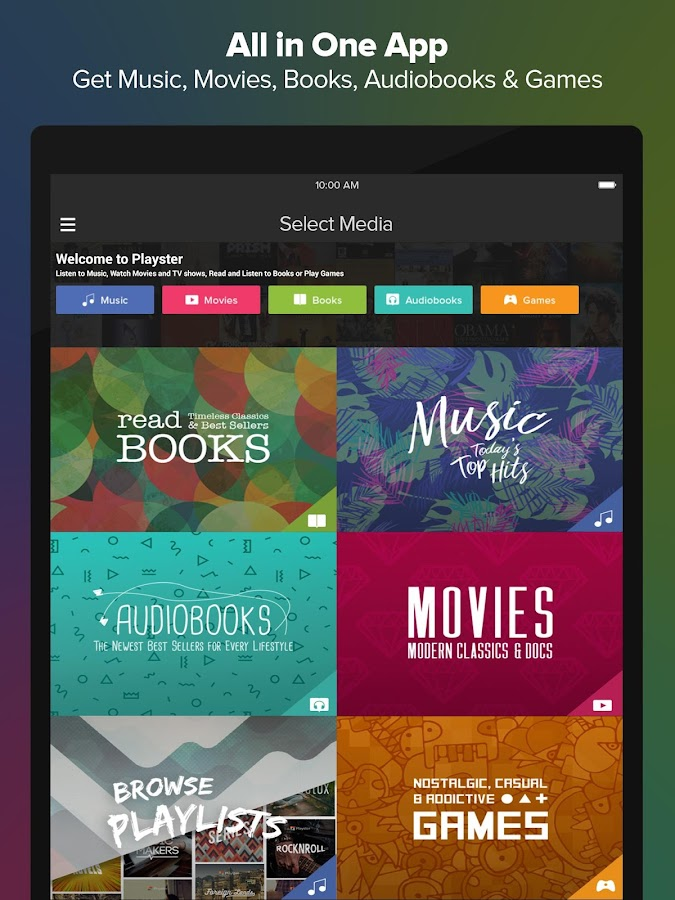 Playster - Music, Books & More- screenshot