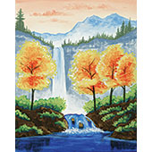 canvas painting design - Autumn Waterfall