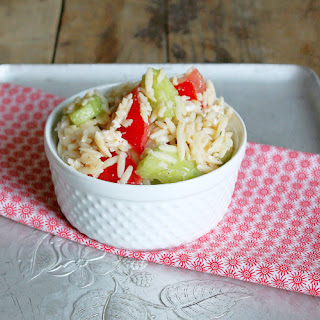 Orzo Pasta Salad with Cucumber and Tomato Recipe