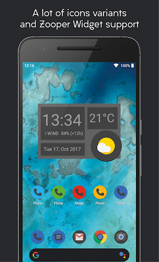 Screenshot for Darkful Icon Pack - Theme for Apex/Nova Launcher in Hong Kong Play Store