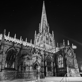 by Octavian Oprea - Buildings & Architecture Public & Historical ( night photography, cathedral, cityscape, flare )