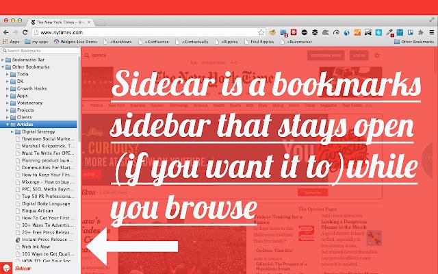 Sidecar Bookmarks Sidebar