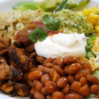 DIY Chipotle Mexican Grill Chicken Bowl.