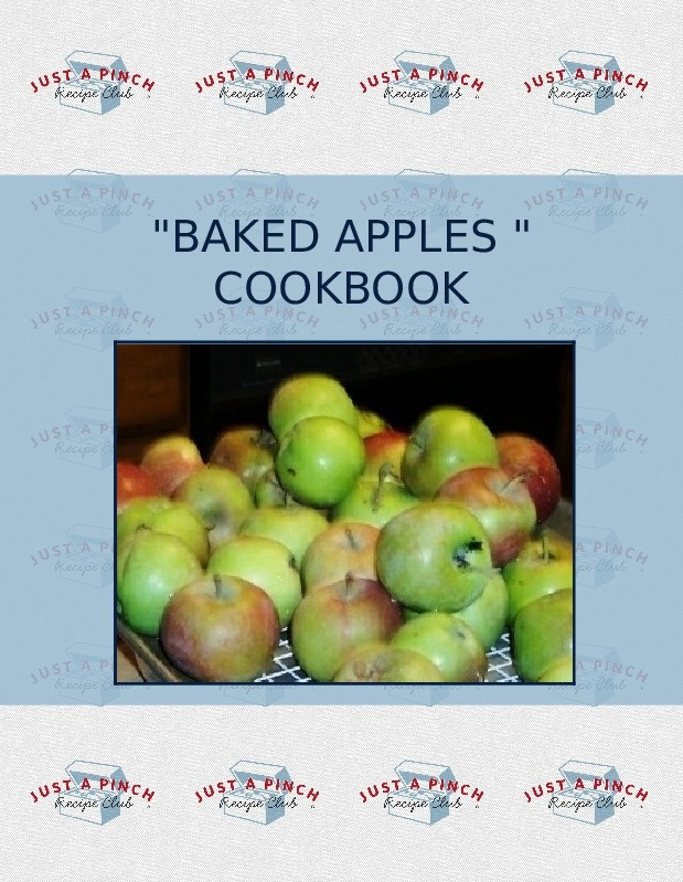 """BAKED APPLES "" COOKBOOK"