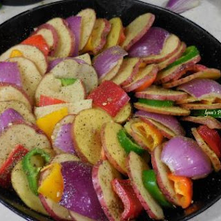 Baked Potato and Veggie Ring
