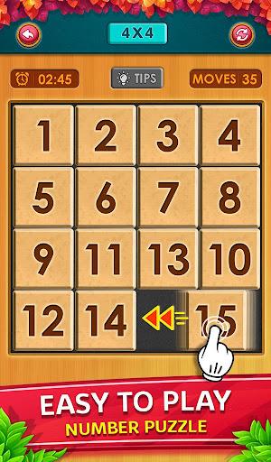 Number Puzzle - Classic Slide Puzzle - Num Riddle screenshots 1