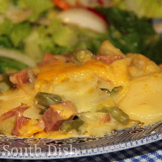 Ham and Potatoes au Gratin Casserole