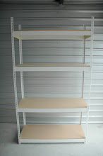 """Photo: Rivet Shelving - Complete with Shelves -   sizes available are 7'x12""""x36""""  & 7'x36""""x36"""""""
