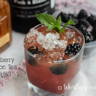 Blackberry Bourbon Tea Cocktail