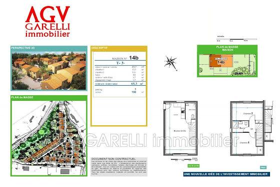 Vente maison 3 pièces 65,3 m2