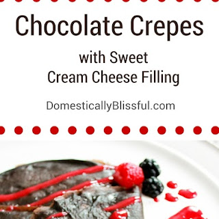 Chocolate Crepes with Sweet Cream Cheese Filling.