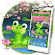 Cartoon Frog Pond Blossom Theme APK