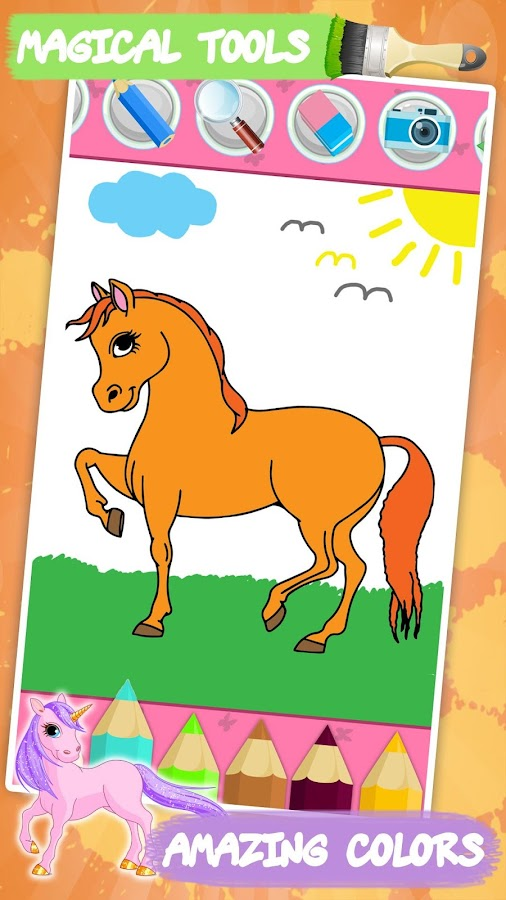 Unicorn coloring book for kids - Android Apps on Google Play