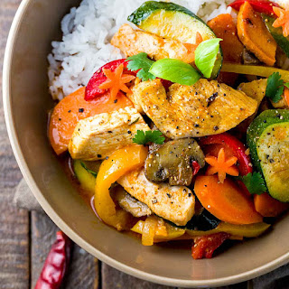 Thai Chicken Curry with Coconut Milk.