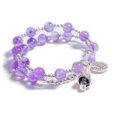 Vòng tay đá thạch anh tím phối bạc - Bracelets   Facebook Marketplace    Facebook