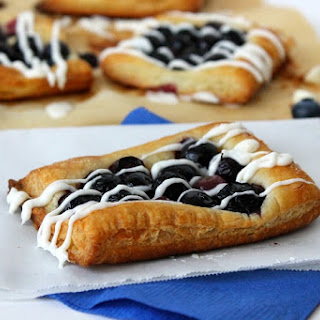 White Chocolate Blueberry Tarts