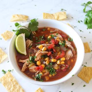 Crockpot Mexican Chicken Tortilla Soup.