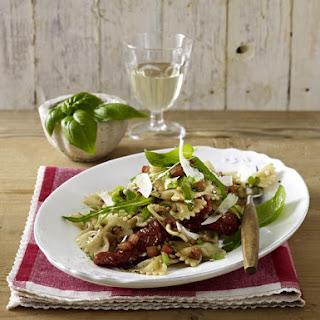 Pasta Salad with Tomato Basil Dressing.