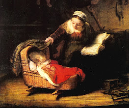 Photo: 1645. Notice the wicker cradle. I've seen cradles just like this one over and over again in Dutch paintings.