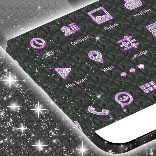 粉红钻石霓虹GO主题 個人化 LOGO-玩APPs